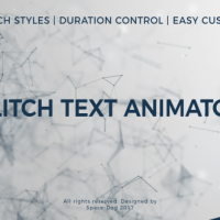 Glitch Text Animator PRO – Free After Effects Template