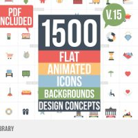 VIDEOHIVE FLAT ANIMATED ICONS LIBRARY FREE DOWNLOAD