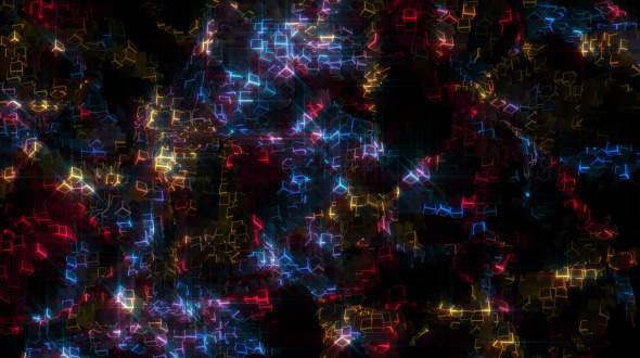 videohive glowing cubes particles motion graphics free after