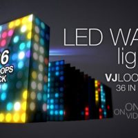 LED Wall Lights VJ Loops Pack – Free After Effects Template