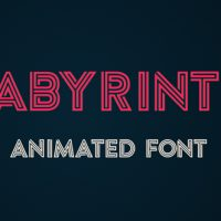 Labyrinth Animated Font – Free After Effects Template