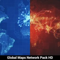 Pack of 3 Global Maps Network HD – Free After Effects Templates