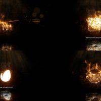 VIDEOHIVE REALISTIC FIRE LOGO 2