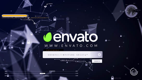 VIDEOHIVE CTOS - LOGIN HACK LOGO REVEAL - Free After Effects