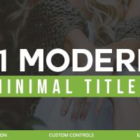 21 Modern Titles 20306047 – Free After Effects Templates