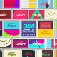 VIDEOHIVE 368 TRANSITIONS 4K – MOTION GRAPHICS