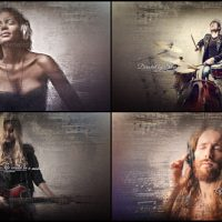 Music Notes Slideshow – Free After Effects Template