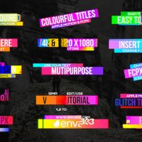 VIDEOHIVE COLOURFUL GLITCH TITLES 2