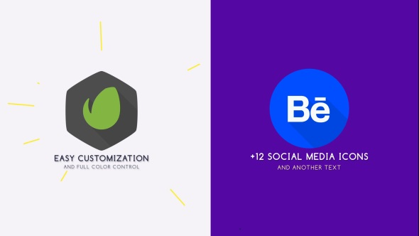 Flat Logo Animation Free After Effects Template Free After - Logo animation after effects template