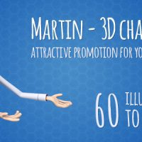 Martin 3D Character – Man Presenter/Manager Product Promotion