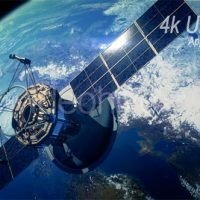 VIDEOHIVE COMMUNICATION SATELLITE ORBITING EARTH – MOTION GRAPHICS