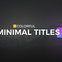 Color full Minimal Titles Free After Effects Template