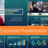 VIDEOHIVE 4-IN-1: CORPORATE PRESENTATION + SLIDES' MAKER, CHARTS' MAKER AND TITLE PACK
