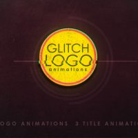 Glitch logo Free After Effects template
