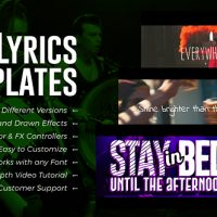 VIDEOHIVE LYRICS TEMPLATES (3 VERSIONS) FREE DOWNLOAD