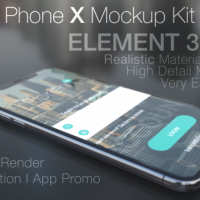 VIDEOHIVE PHONE X MOCKUP KIT FREE DOWNLOAD