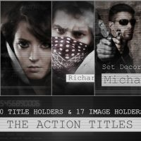 VIDEOHIVE THE ACTION TITLES FREE AFTER EFFECTS TEMPLATE