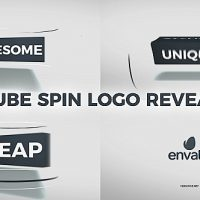 VIDEOHIVE CUBE SPIN LOGO REVEAL FREE DOWNLOAD