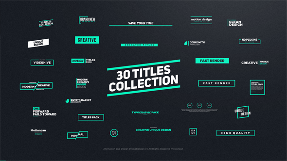 Titles animation free after effects template free after effects titles animation free after effects template maxwellsz