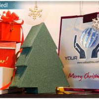 VIDEOHIVE CHRISTMAS GIFTS LOGO – STOREFRONT DIGITAL SIGNAGE
