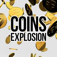 3D Gold Coins Explosion Free After Effects Template
