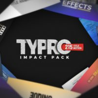 VIDEOHIVE TYPRO – IMPACTPACK | 215 TITLE ANIMATIONS
