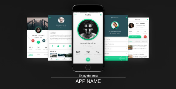 app presentation free after effects template free after effects