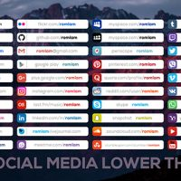 VIDEOHIVE SOCIAL MEDIA LOWER THIRDS