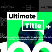 VIDEOHIVE ULTIMATE TEXT | 100 TITLES ANIMATION