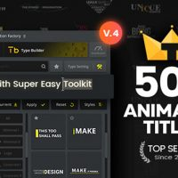VIDEOHIVE TYPOKING | PACK OF TITLES & TYPOS – AFTER EFFECTS PROJECTS