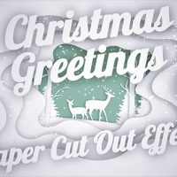 VIDEOHIVE CHRISTMAS GREETINGS – PAPER CUT OUT