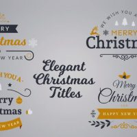 Elegant Christmas Titles – Motion Array