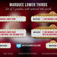 VIDEOHIVE MARQUEE LOWER THIRDS FREE DOWNLOAD