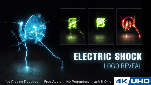 Electric Shock Logo Reveal - Free After Effects Template - Free