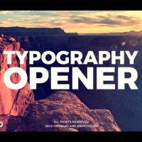 VIDEOHIVE TYPOGRAPHY OPENER 20836352