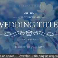 Wedding Titles – Free After Effects Templates