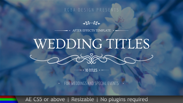Wedding After Effects Template Free