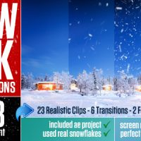 SNOW PACK WITH TRANSITIONS – MOTION GRAPHICS (VIDEOHIVE)