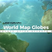 VIDEOHIVE WORLD MAP GLOBES FREE DOWNLOAD