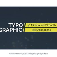 VIDEOHIVE TYPOGRAPHIC – 30 TITLE ANIMATIONS