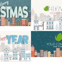 VIDEOHIVE CHRISTMAS AND NEW YEAR TEXT WITH LOGO REVEAL