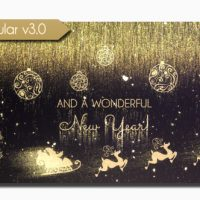 VIDEOHIVE GOLDEN CHRISTMAS WISHES FREE DOWNLOAD