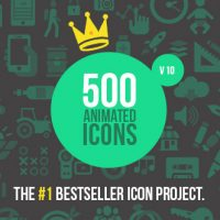 500 ANIMATED ICONS VERSION 10 – AFTER EFFECTS PROJECT (VIDEOHIVE)