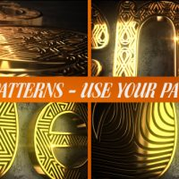 VIDEOHIVE GLARING PATTERN MAKER LOGO REVEAL