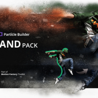 VIDEOHIVE PARTICLE BUILDER | SAND PACK: DUST SAND STORM DISINTEGRATION EFFECT VFX GENERATOR