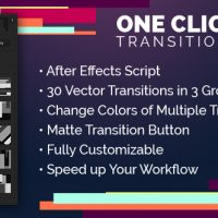 VIDEOHIVE ONE CLICK TRANSITIONS VOL.1 – ADD-ON