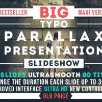 BIG TYPO PARALLAX PRESENTATION – VIDEOHIVE