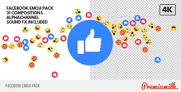 Videohive - Facebook Emoji Pack 19652886 - Free After Effects