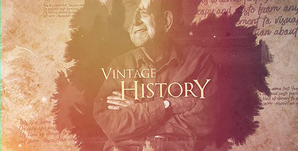 VIDEOHIVE VINTAGE HISTORY FREE DOWNLOAD - Free After Effects