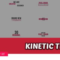 Videohive – Kinetic Typography – 20880695